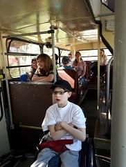 Mit dem Bus durch den Park