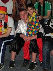 Clown am Bein