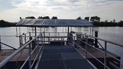 Floß auf der Weser