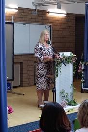 Frau Badermann von der Regenbogenschule