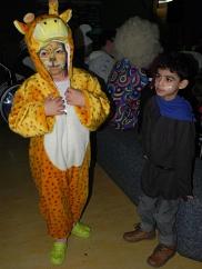 Giraffe und Freund