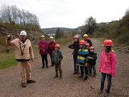 Im Besucherbergwerk in  Kleinenbremen, kurz für der Fahrt in den Berg