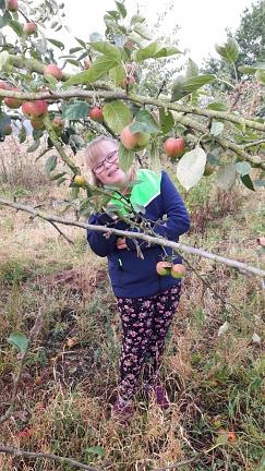 Jil-in den Äpfeln