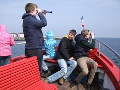 Kapitän Jan- Luca hat alle Mann an Bord