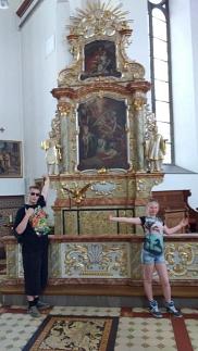 Martin und Celine in der St. Andreaskirche in Cloppenburg