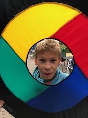 Nils in der Frisbee