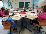 Unsere Klasse in der OBS Uchte arbeitet am Apfel-Projekt
