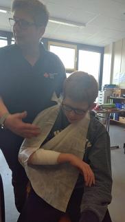 Versorgung einer Armverletzung