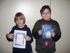 März-Marlene und Alexis nehmen am Vorlesewettbewerb teil